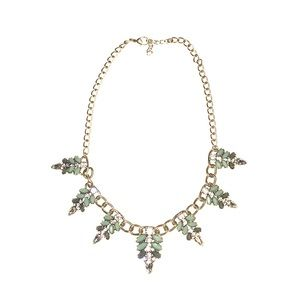 J. Crew Style Gold Statement Necklace